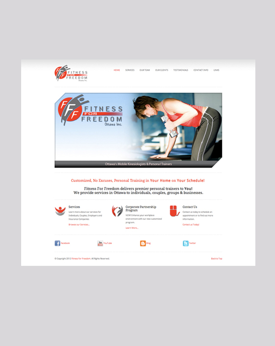 Fitness For Freedom Website