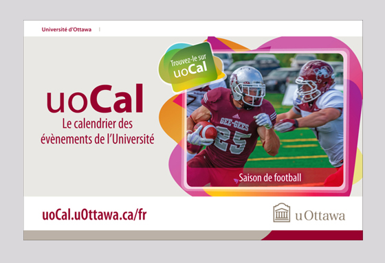uOcal Ad for university of Ottawa