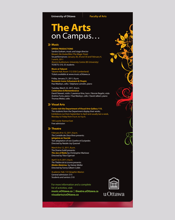 The Arts on Campus Ad