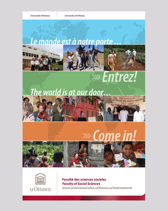 Le monde est à notre porte/The world is at our door poster