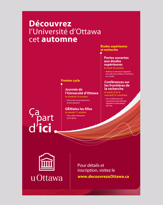Découvrez l'Université d'Ottawa cet automne